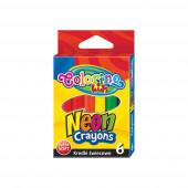 Crayon Cera Neon 6 Cores Colorino
