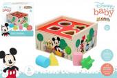 Cubos Formas Madeira Mickey e Minnie Disney Baby