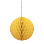 Decoração Bola Papel Amarelo 20cm