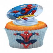 Decoração de Cupcakes obreia Homem Aranha