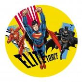 Decoração em açúcar para bolo de Aniversário Superman-Batman