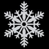 Decoração Suspensa Floco de Neve Glitter