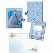 Diario 3D c/ cadeado Princesa Cinderela