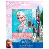 Diario c/ cadeado + caneta Frozen Elsa