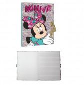 Diário com Cadeado Minnie Mouse