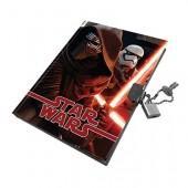 Diário com cadeado Star Wars Episodio VII