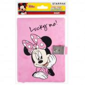 Diário com chave e pelo Minnie