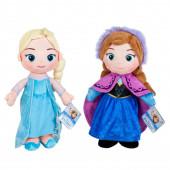 Dois Peluches Elsa e Anna 30cm Frozen Disney