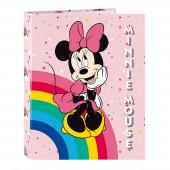 Dossier Lombada Fina A4 Minnie Rainbow