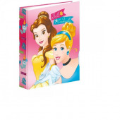 Dossier lombada fina A4 Princesas Bela e Cinderela
