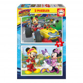 Duplo Puzzle 48 peças Mickey and The Roadster Racers - Disney