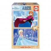 Educa - 2x Super Puzzle 25 Madeira Frozen