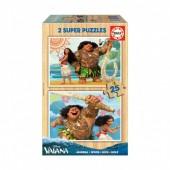 Educa - 2x Super Puzzle 25 Madeira Vaiana