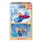 Educa - 2x Super Puzzle 50 Madeira Frozen