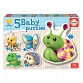 Educa - 5 Baby Puzzles Animais Bosque