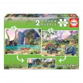 Educa - Puzzle Junior 2x100 Dino World
