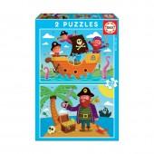 Educa - Puzzle Junior 2X20 Piratas