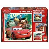 Educa - Puzzle Progressivo 4 em 1 Cars Disney