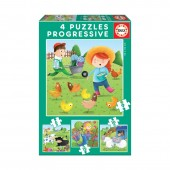 Educa - Puzzle Progressivo Animais da Quinta