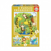 Educa Puzzle Progressivo Animais Selvagens