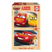 Educa - Super Puzzle 16 Madeira Cars 3