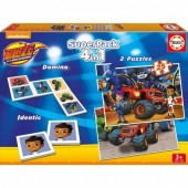 Educa - Superpack 4 em 1 Blaze and the Monster Machines