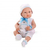 Elegance 42 cm Real Baby Azul Swarovski Elements