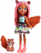 Enchantimals Boneca Sancha Squirrel e Stumper