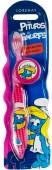 Escova de dentes rosa Smurfs