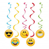 Espirais decorativas Festas Emoji 5 unid