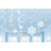 Espirais Decorativas Flocos de Neve 12 uni