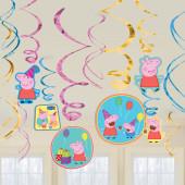 Espirais Decorativas Porquinha Peppa 12 uni