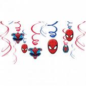 Espirais Decorativas Spiderman 12 pç