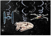 Espirais Metalizadas Decorativas Star Wars - 6 und