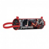 Estojo cilindrico escolar 22 cm Spiderman - Dark
