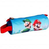 Estojo Cilíndrico Super Mario e Luigi