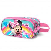 Estojo Duplo 3D Minnie Rainbow