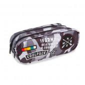 Estojo Duplo CoolPack Badges Camo Black