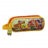 Estojo Duplo Sponge Bob Camp Coral