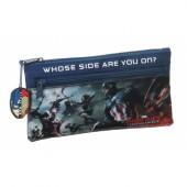 Estojo escolar 2 fechos Marvel Capitão América Civil War