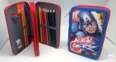 Estojo escolar duplo dos Avengers