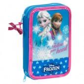 Estojo escolar duplo Frozen My Sister My Hero Heart