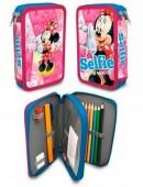 Estojo escolar duplo Plumier Minnie Disney Selfie
