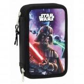 Estojo escolar duplo Star Wars Saga Disney - 28 peças
