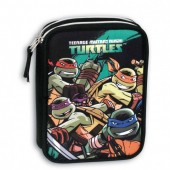 Estojo Escolar duplo Tartarugas Ninja Defense