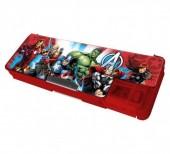 Estojo escolar magnetico Avengers + afia