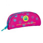 Estojo escolar oval  Benetton - Dots
