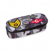 Estojo Escolar Oval CoolPack Badges Camo Black