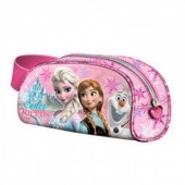 Estojo escolar oval Frozen Sister Queen Pink