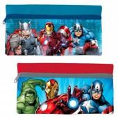 Estojo escolar plano Avengers Marvel Team plano sortido